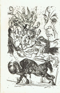 Study of a horse for a fable and Gut- tuso, acquafòrte 1975 (160x250 mm.) Studio di cavallo per una favola per Renato Guttuso, acquafòrte 1975 (mm. 160x250)
